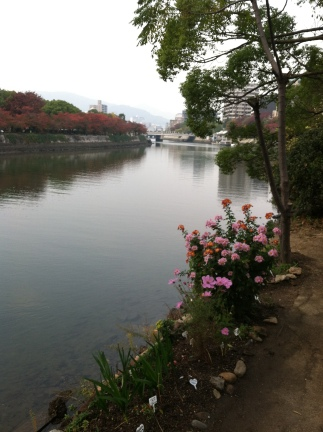 A River and Flowers